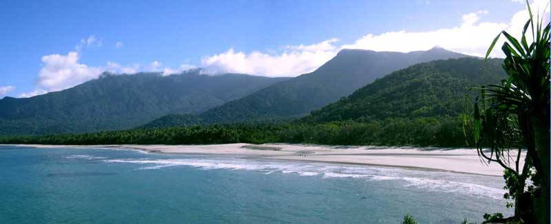 Myall Beach at Cape Tribulation on the DAintree coast